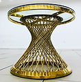 Gold Spoke Cake Table