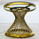Gold Spoke Cake Table
