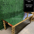 Madison Dining Table with Mirror Top
