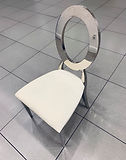 Oval Silver Chair