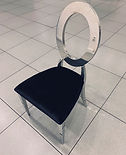 Silver Oval Chair