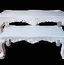 white nesting table
