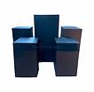 Square Black Pedestals