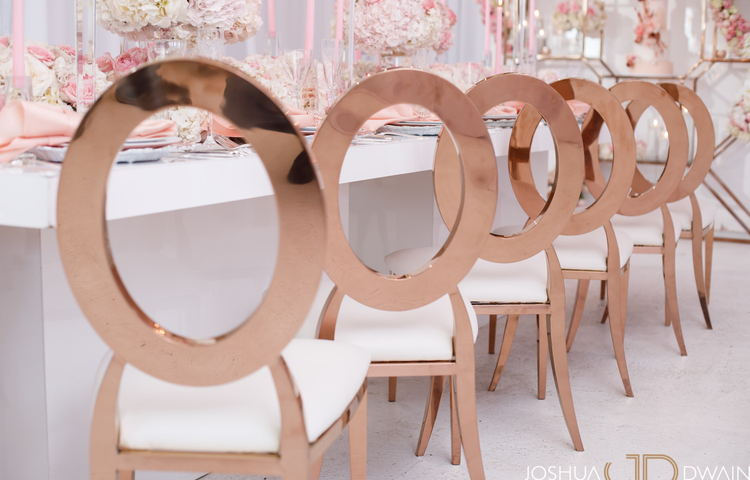 Rose Gold Oval Chairs