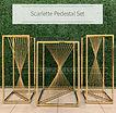scarlette pedestal set