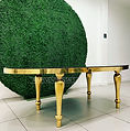 Gold Oval Table