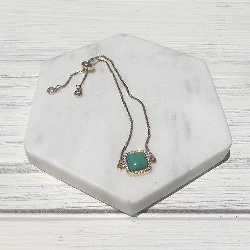 Malachite Stone Adjustable Bracelet