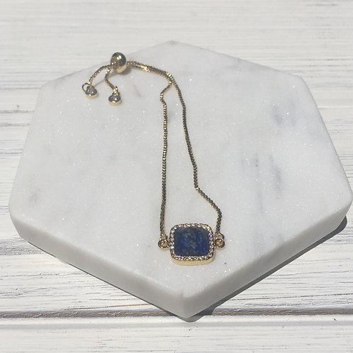Lapis Lazuli Adjustable Bracelet