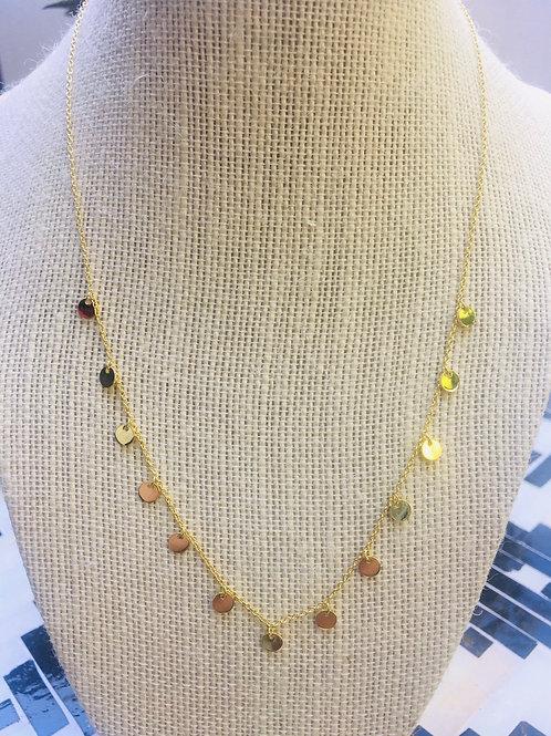 77 Gems Disc Necklace