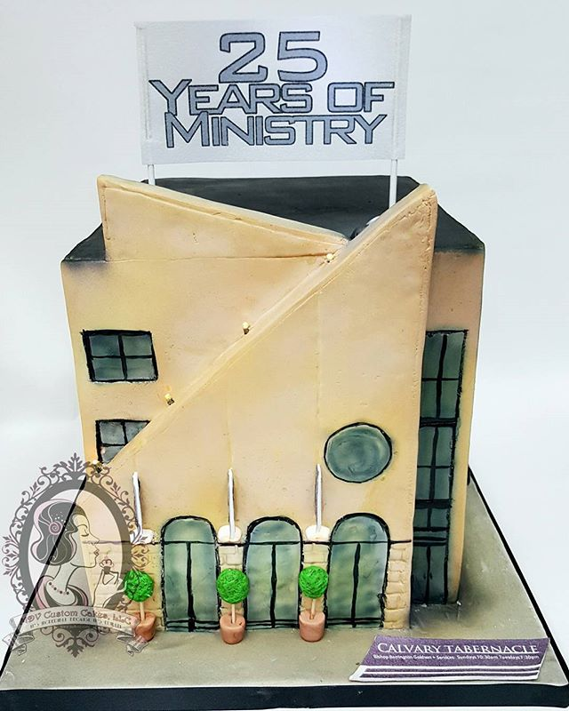Ministry Church Building Cake