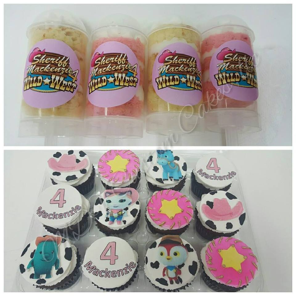 Sheriff Callie Push Pops & Cupcakes
