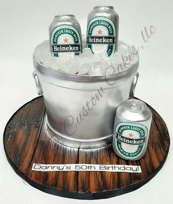 Heineken Bucket Cake_#mdvcustomcakeboutique #alledible #kimball #westchester #ny #nyc #buttercream #