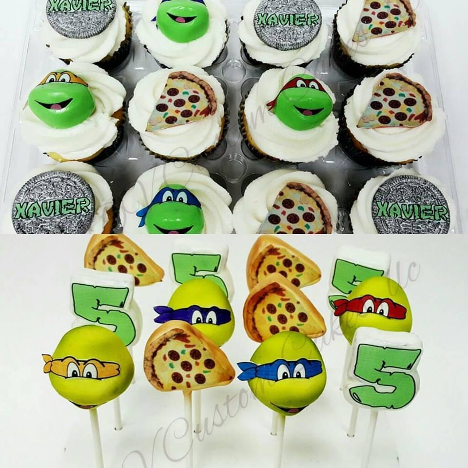 Ninja Turtle Cupcakes & Cake Pops