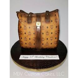MCM Handbag_#mcm #handbag #sculptedcake #mdvcustomcakeboutique #mdvcustomcakes #westchestermoms #wes