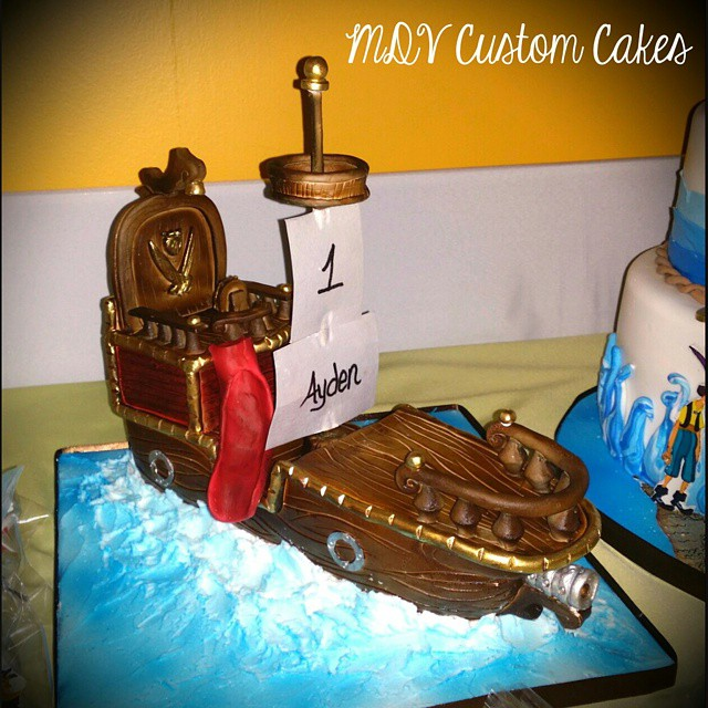 Hand sculpted RKT pirate ship