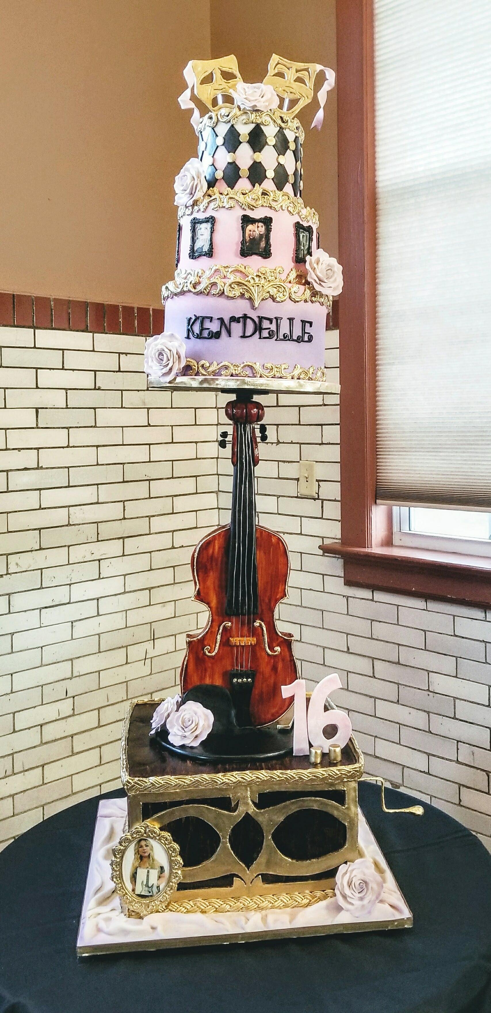 Violin, Victrola, Tiered Cake