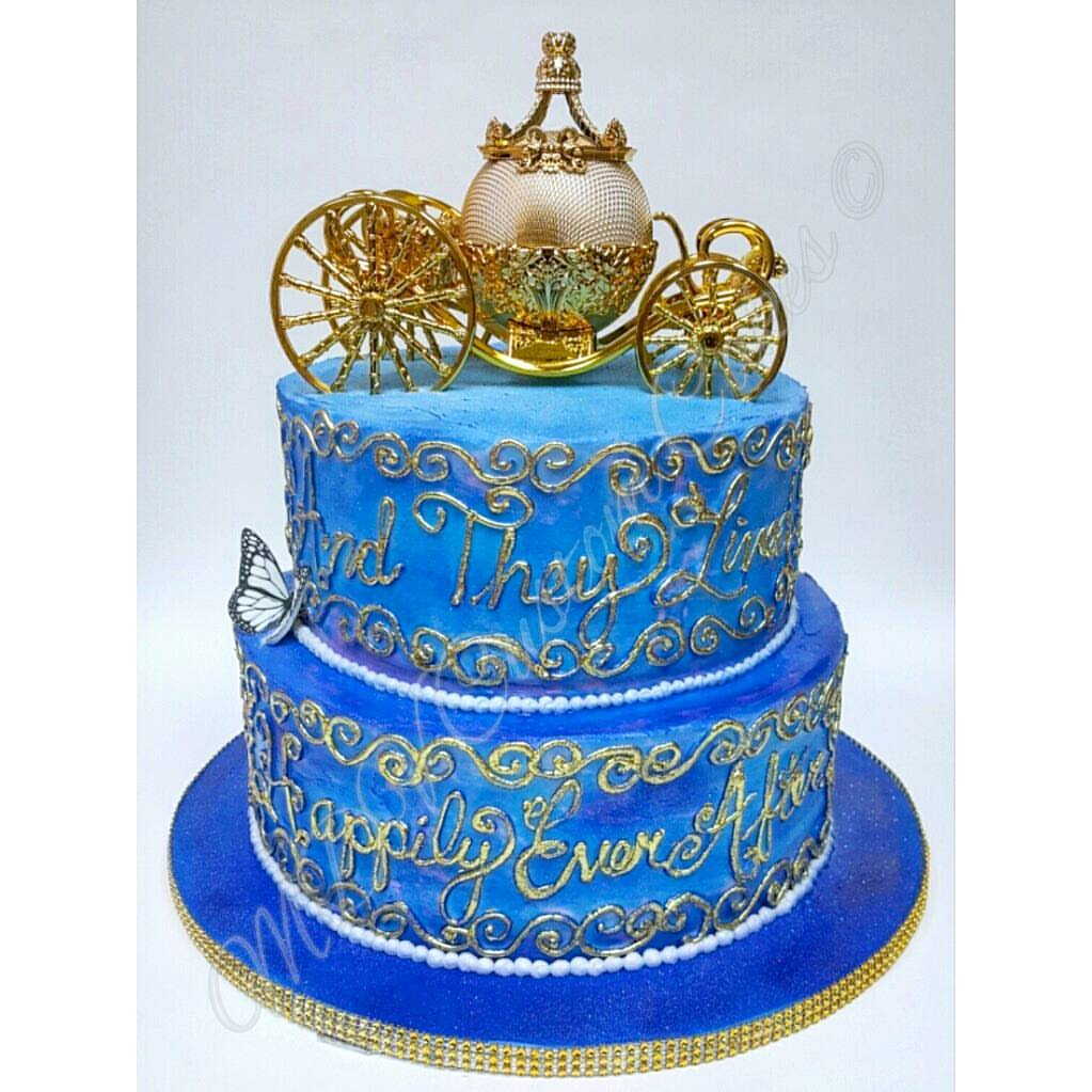 Buttercream Cinderella Wedding