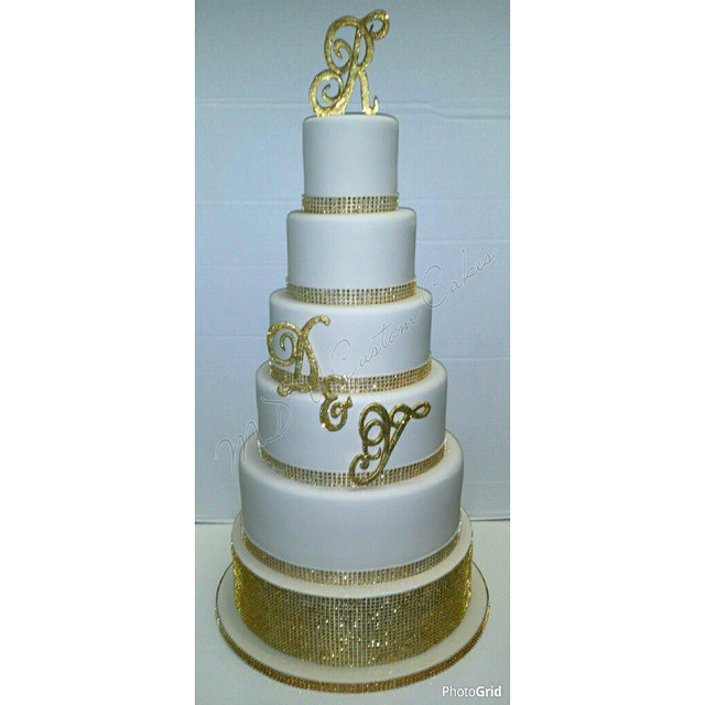 Simple Bling Monogram Wedding