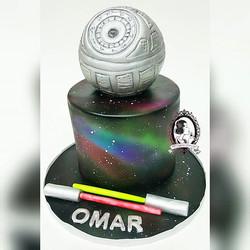 Death Star Galaxy Cake