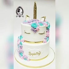 Large Buttercream Bella Unicorn Cake and Treats__#mdvcustomcakes #mdvcustomcakeboutique #yonkers #we