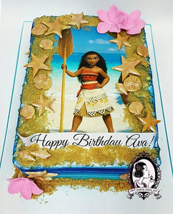 Moana Sheet Cake