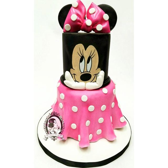 Minnie Mouse Mini Tiered Cake