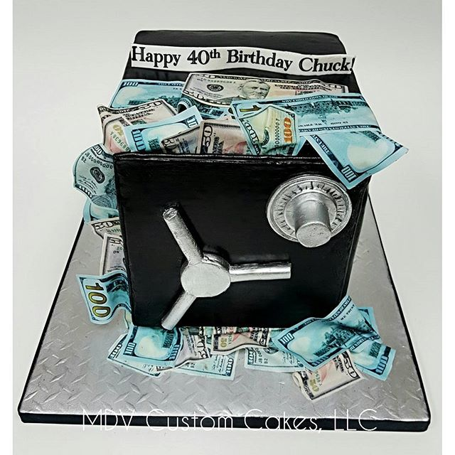 Overstuffed Bank Safe Cake