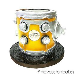 Drum Cake_#handsculpted #alledible #drum #dw #dwdrums #mdvcustomcakeboutique #mdvcustomcakes #westch