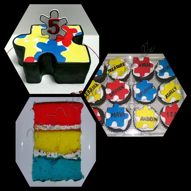 Autism Puzzle Cake