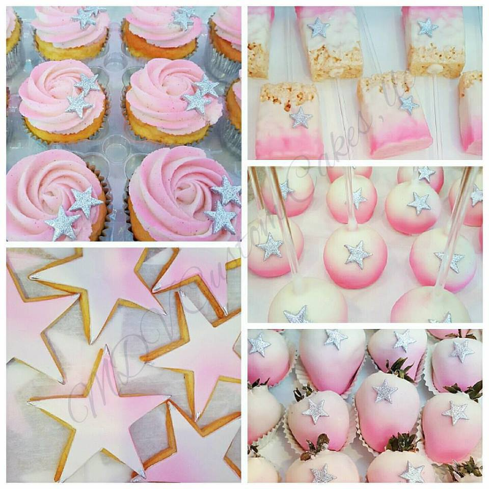Pink & Silver Star Desserts