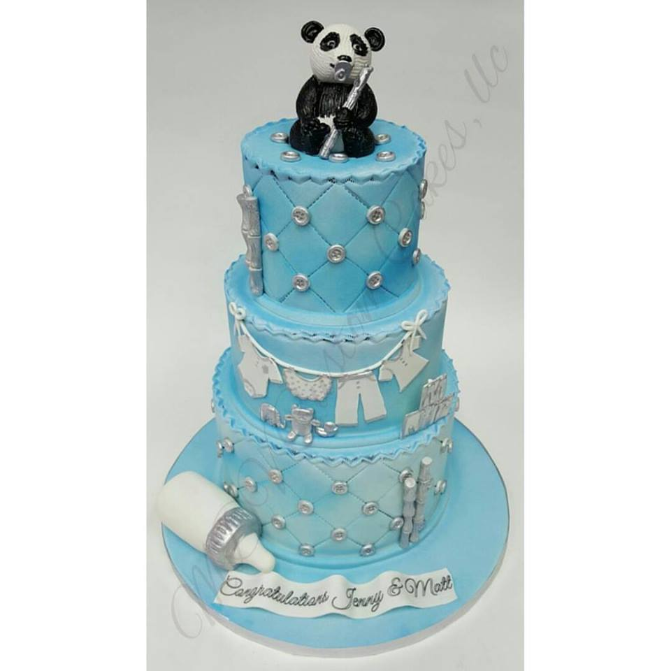 Panda Baby Shower Cake