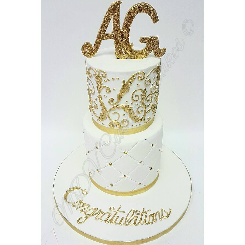 Golden Monogram Wedding