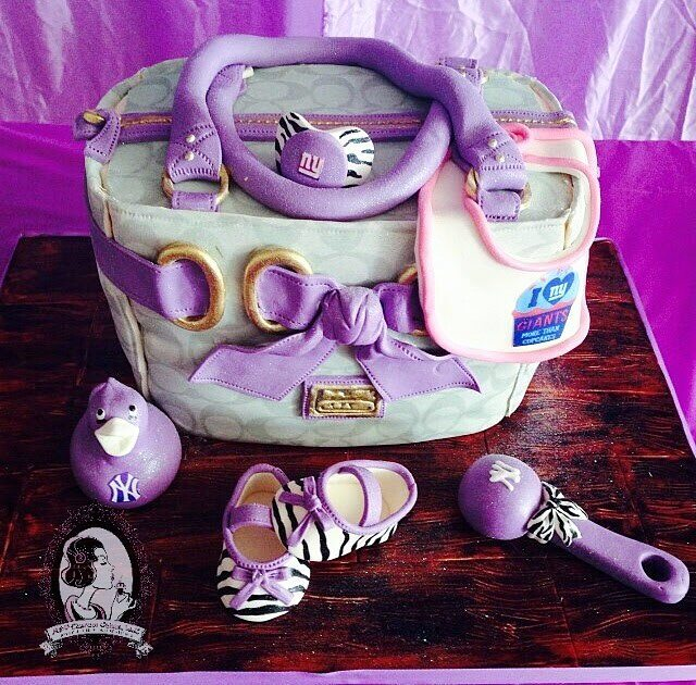 Coach Diaper Bag Cake