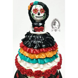 Close-up of day of the dead topper
