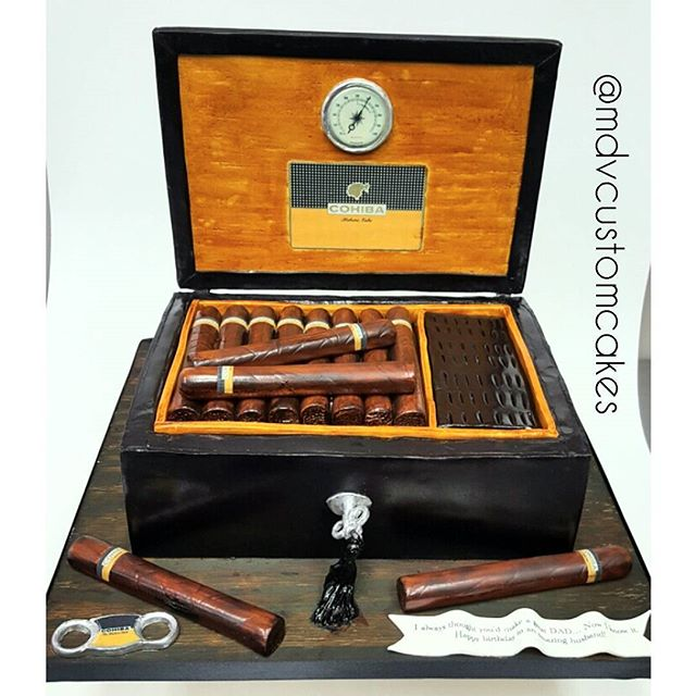 Cohiba Cigars and Humidor Cake