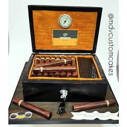 Cohiba Cigar Box_#mdvcustomcakes #mdvcustomcakeboutique #yonkers #westchester #customcakes #cohiba #