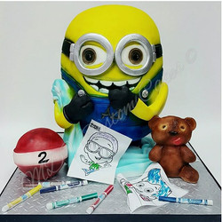 Minion Cake with Child's Favorite Things