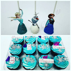 Frozen Cake Pops and Cupcakes