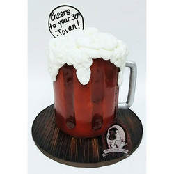 Medium Ale Beer Mug Cake