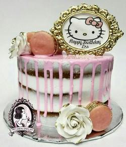 Hello Kitty Naked Cake