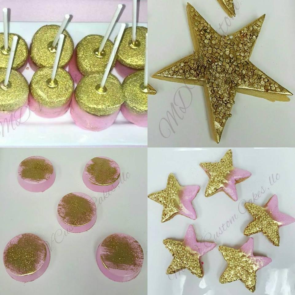 Pink & Gold Desserts