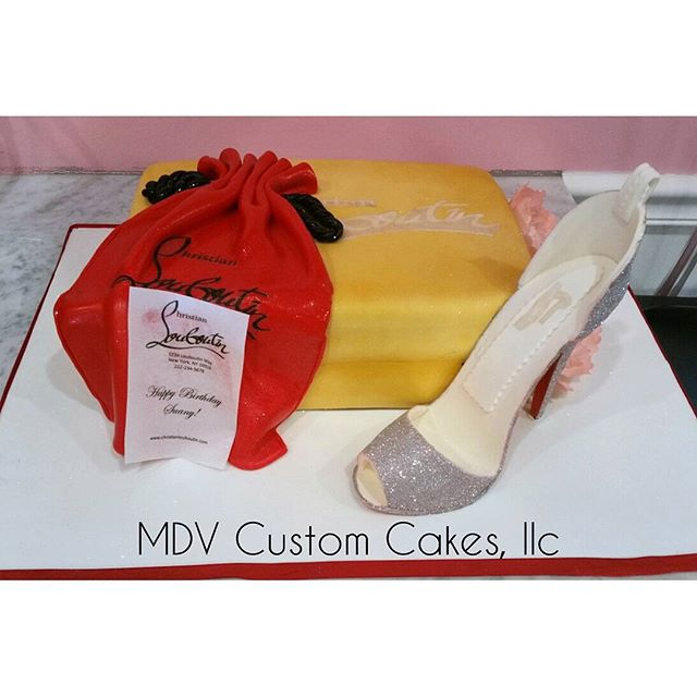 Louboutin Heel and Box Cake