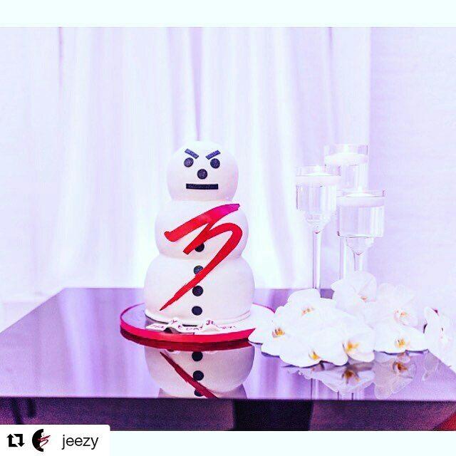 Jeezy's Snowman Cake