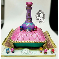 Shimmer and Shine Genie Bottle Cake