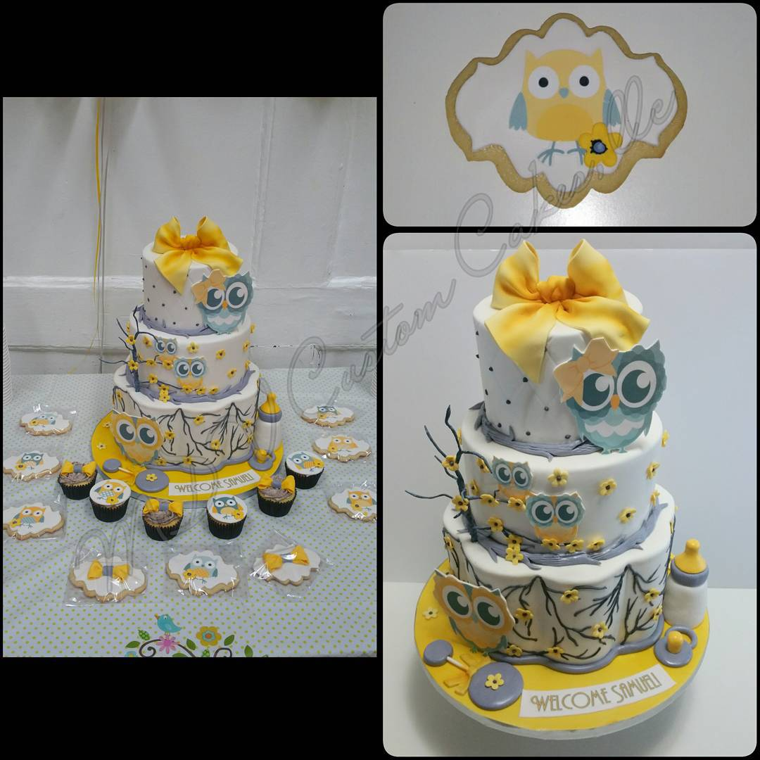Owl Yellow & Grey Babyshower