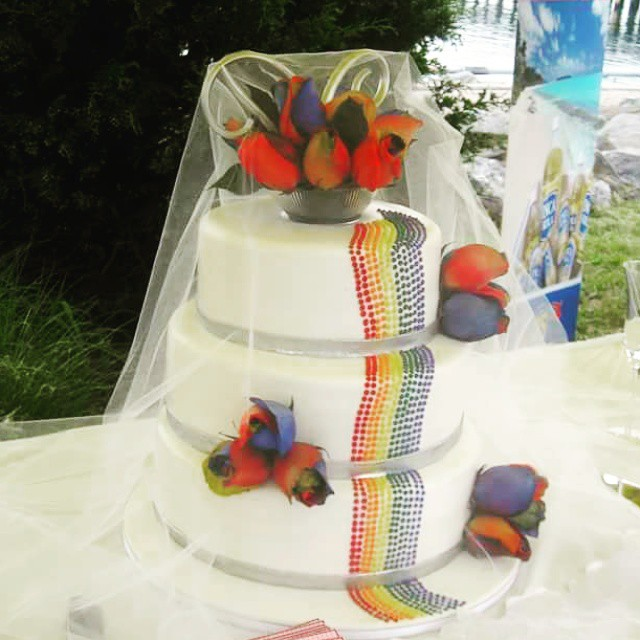 Rainbow Same-Sex Wedding