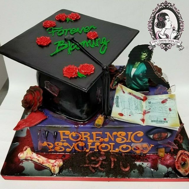 Horror Graduation and Birthday Cake