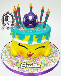 Sadie Soccerball and Birthday Wishes Shopkins Cake