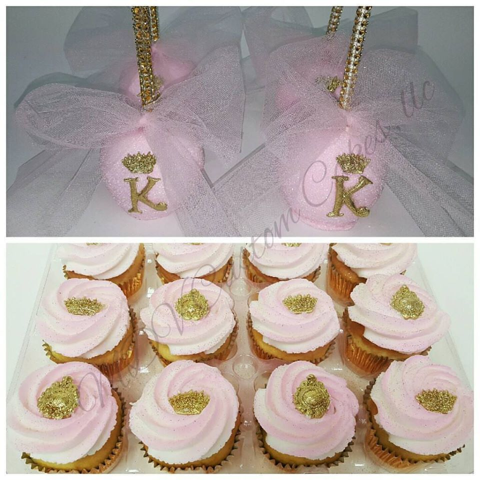 Pink Princess Apples & Cupcakes