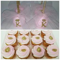 Pink Princess Apples & Cupcakes